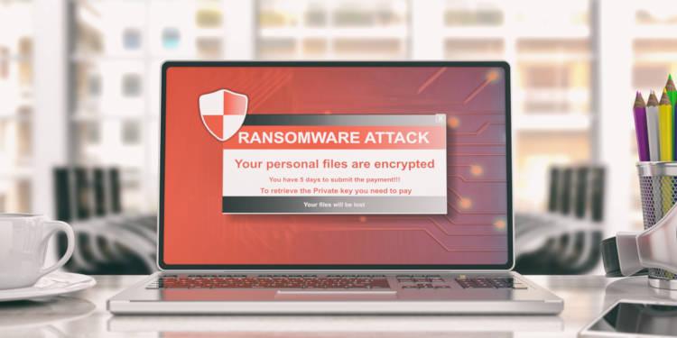ransomware scherm