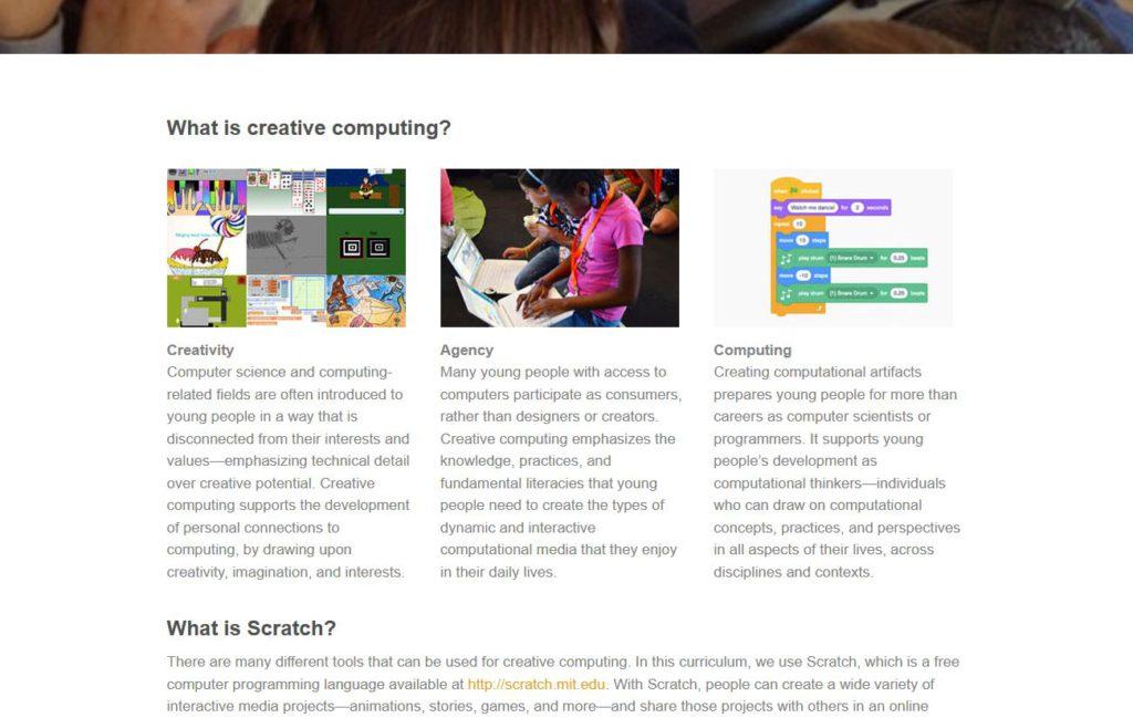 Harvard Graduate School gebruikt Scratch voor Creative Computing.