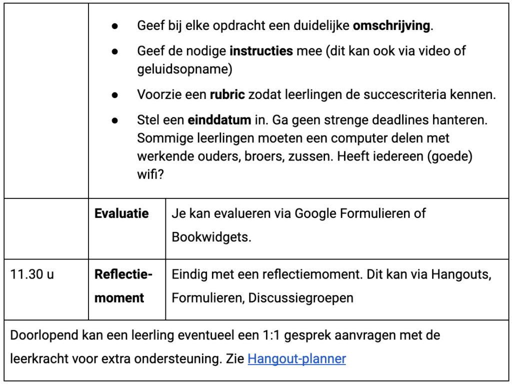 Planning 3 Google Classroom