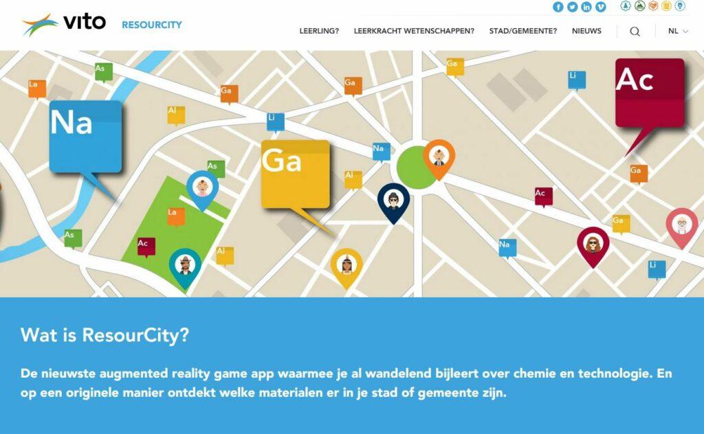 Resourcity: AR app voor scheikunde