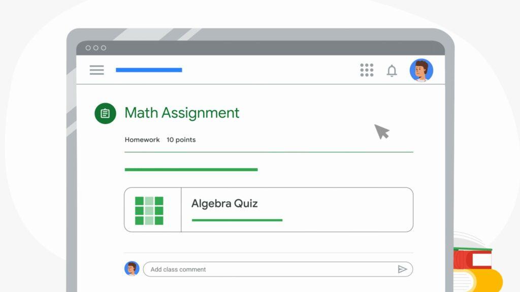Google Classroom opties
